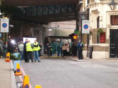 Bridget Jones filming