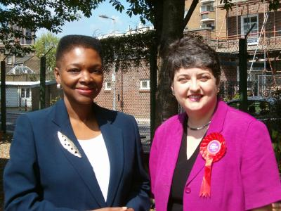Baroness Amos with Val Shawcross