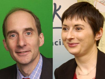 Lord Adonis and Cllr Caroline Pidgeon