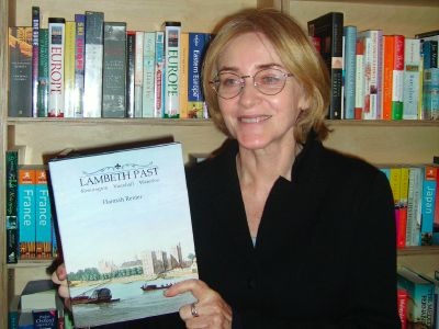 Hannah Renier, author of Lambeth Past, at Crockatt
