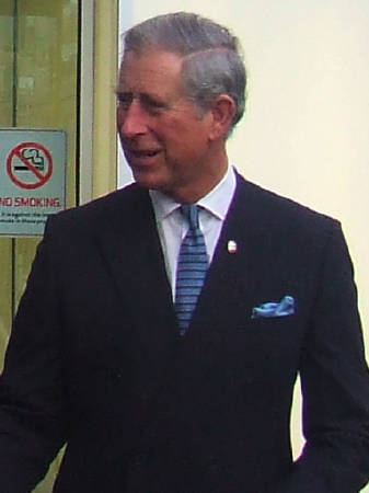 The Prince of Wales leaving BFI Southbank