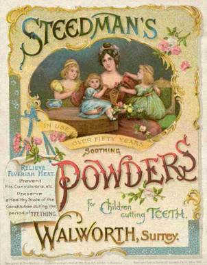 An advert for Steedman's Soothing Powders dating