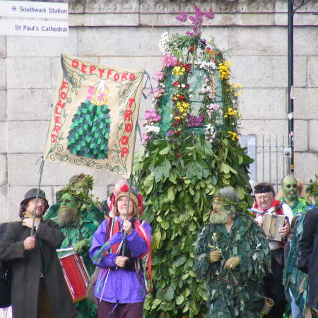 Deptford Jack in the Green on Bankside for May Day