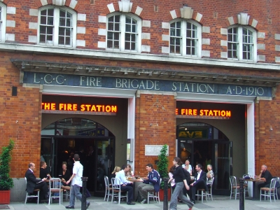 The Fire Station bar in Waterloo Road
