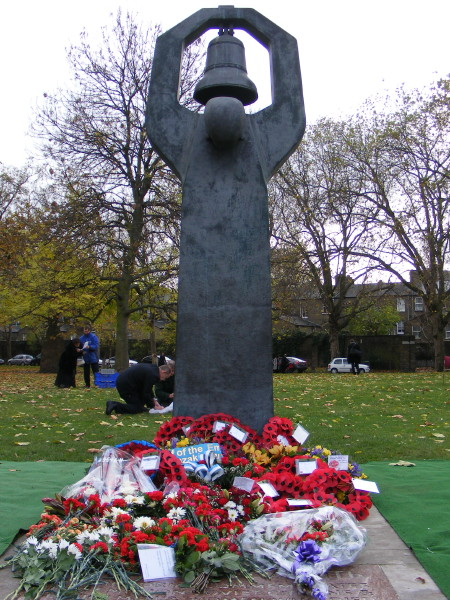 Wreaths at the Soviet War Memorial