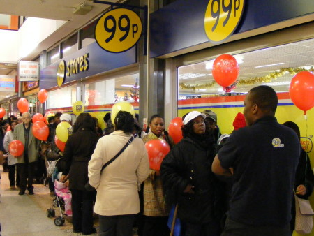 Queue at Elephant & Castle as 99p Store opens