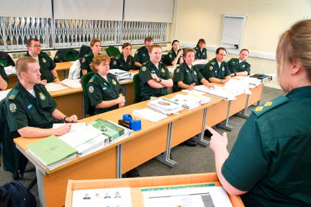 Student paramedics at Hannibal House