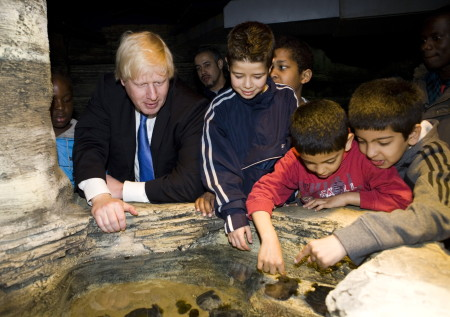Boris Johnson at Sea Life London Aquarium