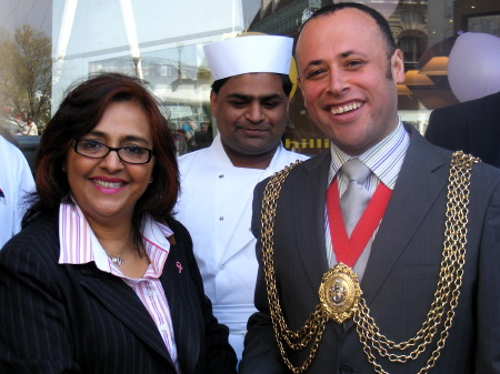 Neelofar Khan and Cllr Christopher Wellbelove