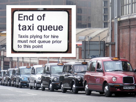 Waterloo taxi rank