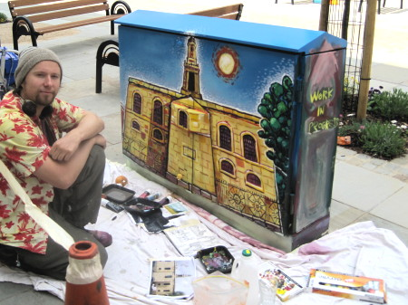 Trinity Street BT cabinet transformed into work of art