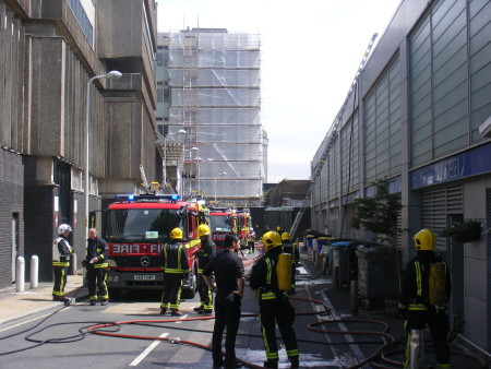 Lunchtime fire drama at Ev restaurant in Southwark's Isabella Street