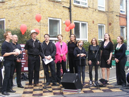 A capella choir in Bermondsey street