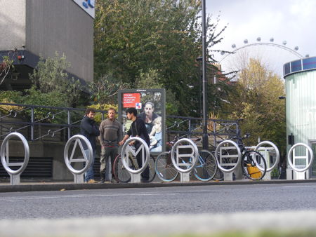 Lambeth spells out its welcome to visitors with designer bike rack