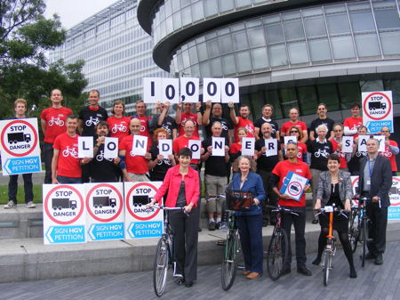 'No more lethal lorries' - 10,000-signature cyclists' petition delivered to City Hall