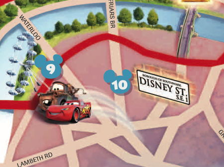 Southwark's Disney Street included in Mickey Mouse map of London
