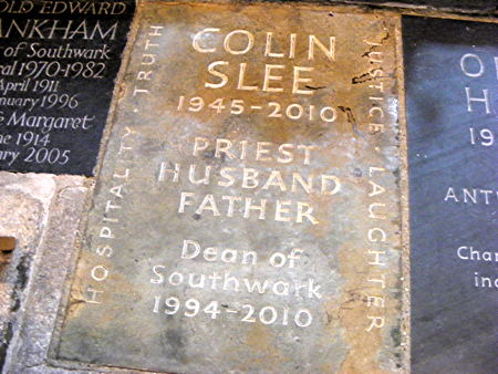 Colin Slee: memorial service at Southwark Cathedral