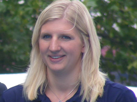 Rebecca Adlington on the South Bank