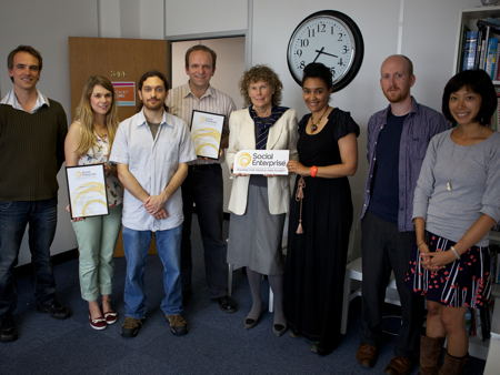 Chocolate Films presented with Social Enterprise Mark by Kate Hoey MP