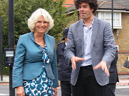 Duchess of Cornwall joins SE1 guerrilla lavender harvest