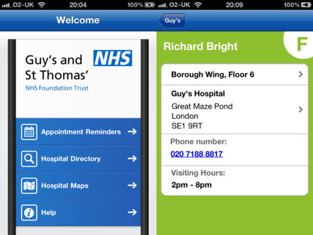 Guy's and St Thomas' hospitals launch iPhone app