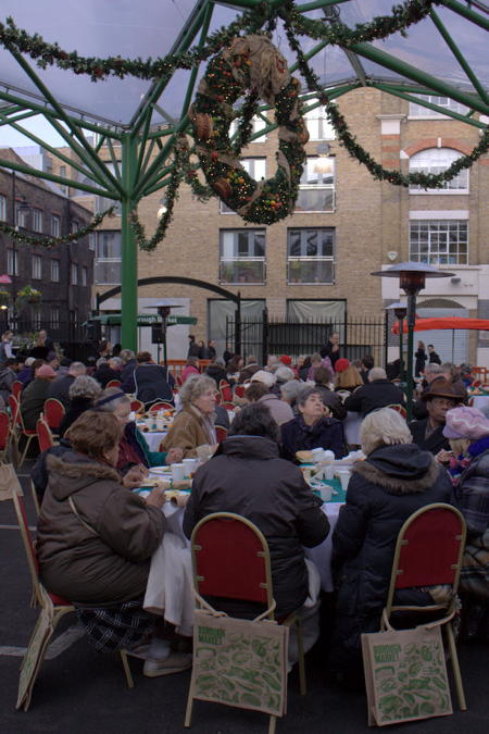 Borough Market hosts community Christmas lunch for older locals