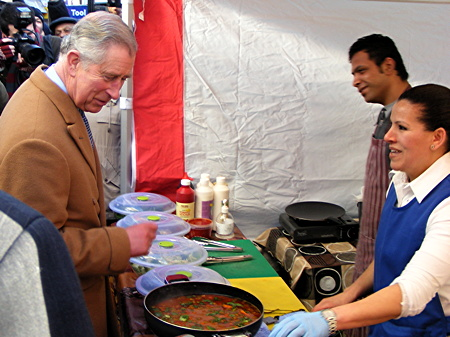 Prince of Wales visits Waterloo's Lower Marsh Market