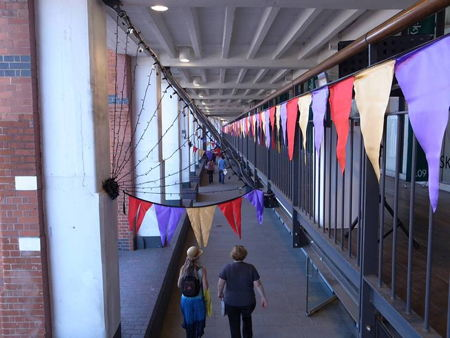 Oxo Tower Wharf decked out with handmade diamond jubilee bunting