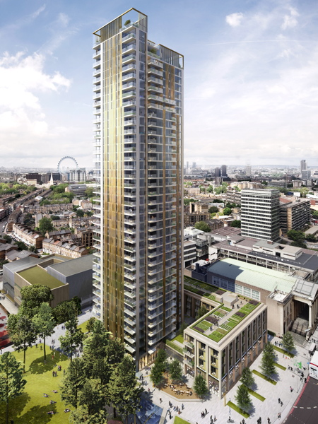 New image of proposed Elephant & Castle tower on leisure centre site