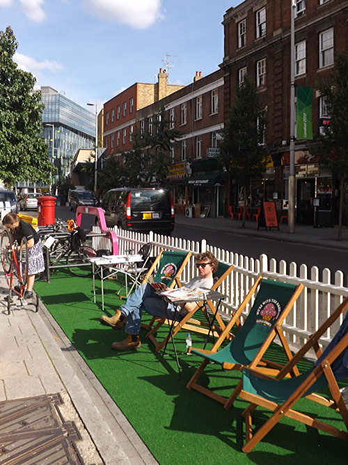 Car Free Day: pop-up garden created in Waterloo loading bay