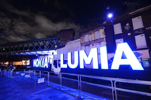 Nokia takes over Flat Iron Square for deadmau5 gig to launch Lumia phones