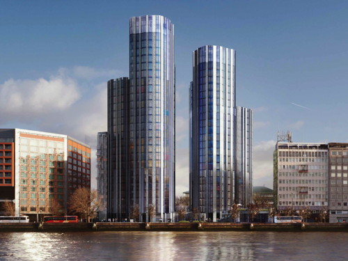 Foster & Partners Albert Embankment towers get green light