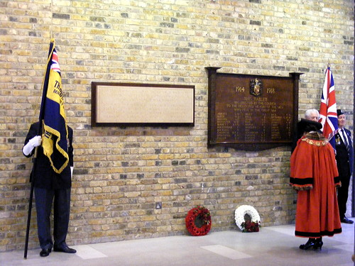 Camberwell war memorials rededicated in Tooley Street ceremony