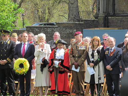 Victory Day commemorated at Southwark's Soviet War Memorial