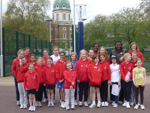 Former England captain Amanda Newton coaches Waterloo Netball club