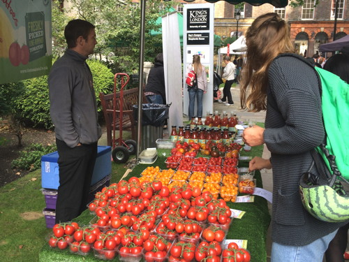 Tuesday morning farmers' market launches at Guy's Memorial Park