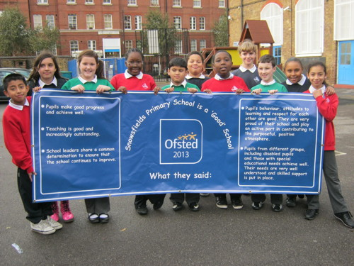 Snowsfields Primary School celebrates improved Ofsted rating