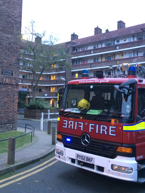 Incense sticks blamed for fire on Tabard Gardens Estate