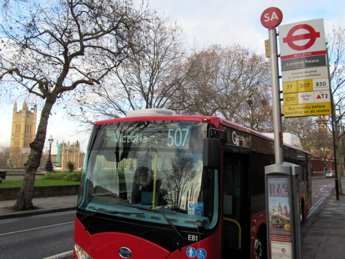 Electric buses introduced on routes 507 and 521