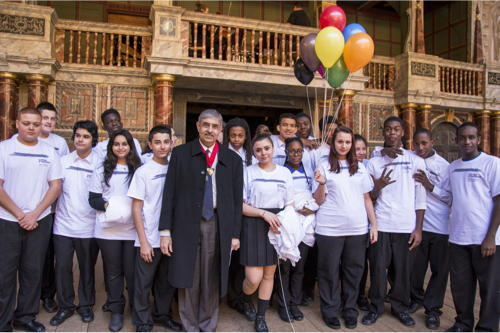 Southwark students celebrate Seven Ages of Shakespeare at Globe