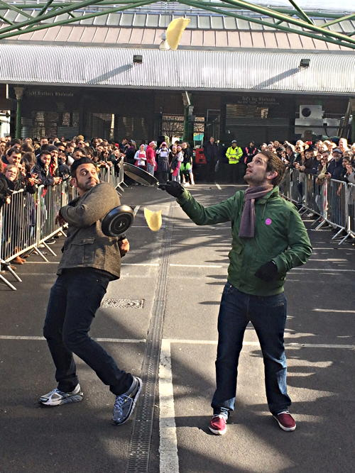 Estate agents and bankers triumph in SE1 pancake races