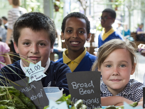 Southwark schoolchildren sell local produce at Borough Market