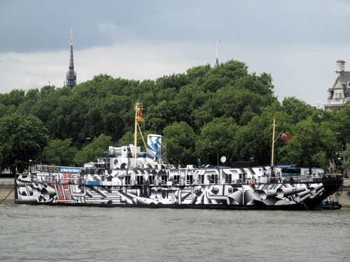 German artist's dazzling WWI centenary makeover for HMS President