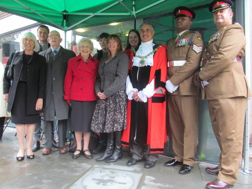 World War I hero Frederick Holmes VC commemorated in Abbey Street