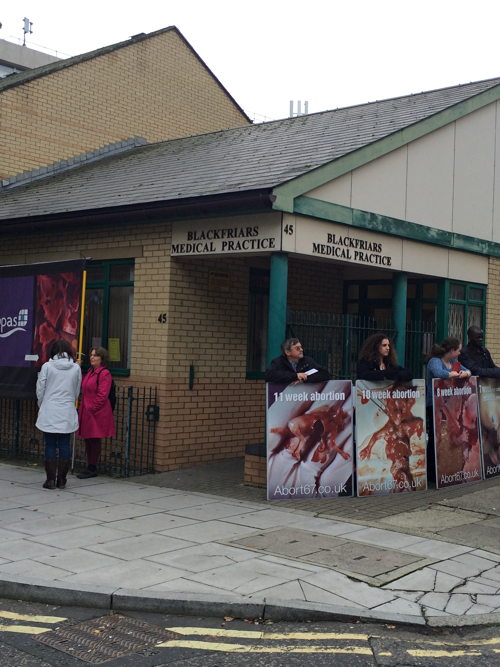 Protesters target Blackfriars Medical Practice's abortion clinic