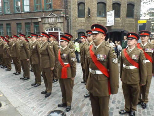 Princess of Wales's Royal Regiment parade in Borough High Street