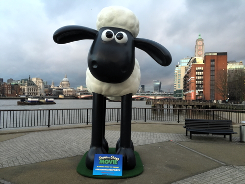 Shaun the Sheep statue arrives on South Bank