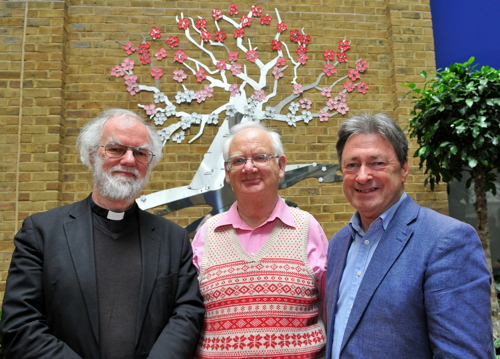 Alan Titchmarsh and Rowan Williams unveil Guy's Hospital artwork