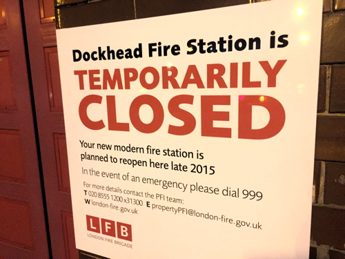 Old Kent Road fire station reopens as Dockhead shuts