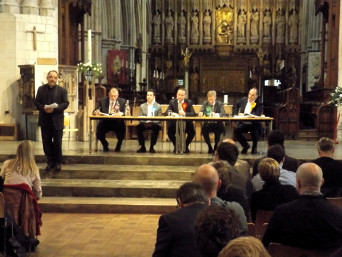 Audio: Bermondsey & Old Southwark hustings at Southwark Cathedral
